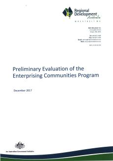 RDA Wheatbelt Enterprising Communities Program Report