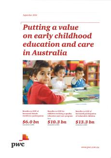Putting a Value on Early Childhood Education and Care