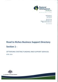 RDA Wheatbelt Road to Riches Directory - Section 1