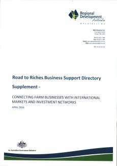 RDA Wheatbelt Road to Riches Directory- Supplement