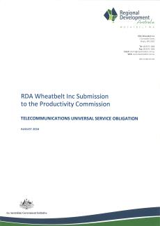 RDA Wheatbelt Telecommunications USO Submission - Aug 2016
